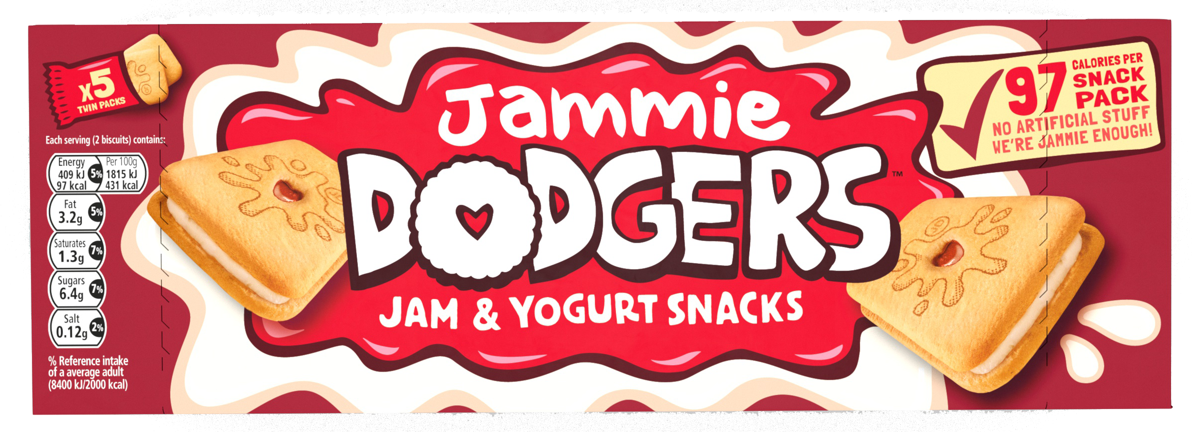 Jammy Dodger Squeaky Dog Chew Toy Animal Outfitters UK Biscuit Collection Jammy Dodger