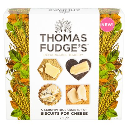 Thomas Fudge's Quartet Biscuits for Cheese