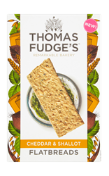 Thomas Fudges Cheddar and Shallot Flatbread