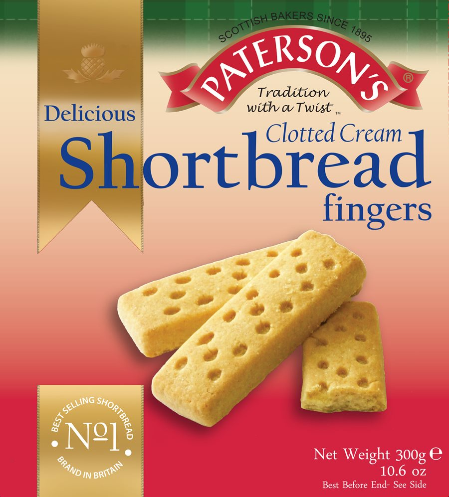 Paterson's Clotted Cream Shortbread Fingers alt tag