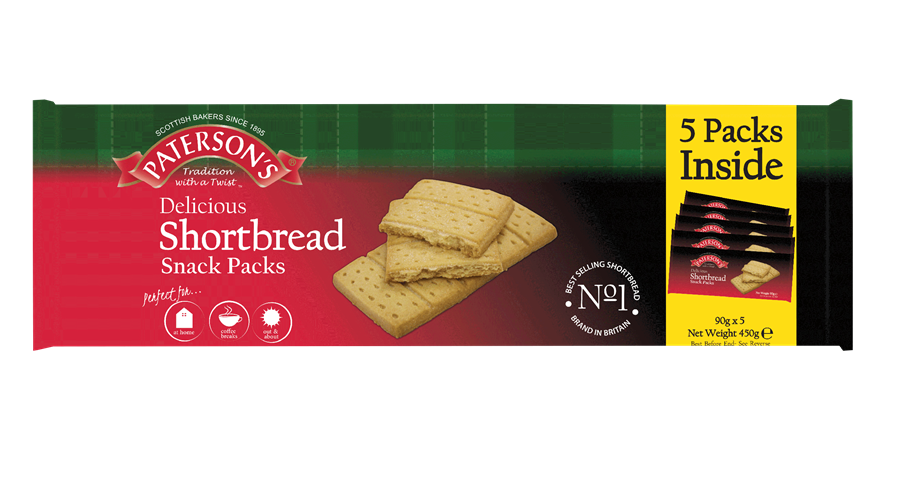 Paterson's Shortbread Snack Packs 450g
