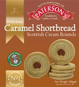 Patersons Caramel Shortbread Scottish Cream Rounds 200g