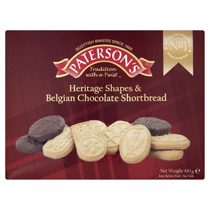Paterson's Heritage Shapes & Belgian Chocolate Shortbread alt tag